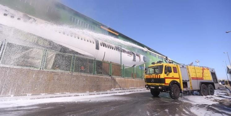 جزییات آتشسوزی یک فروند هواپیمای اسقاطی در فرودگاه امام