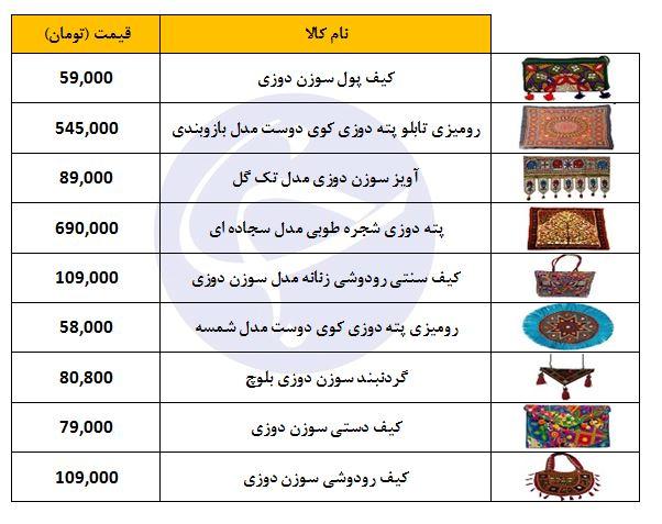 خرید رودوزی سنتی در بازار چقدر هزینه دارد؟
