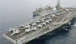 خواهش ناو هواپیمابر آمریکایی از سپاه به زبان فارسی +فیلم