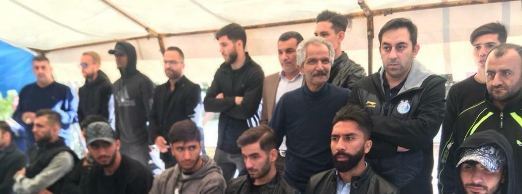 حضور بازیکنان استقلال در مراسم سالگرد غلامحسین مظلومی