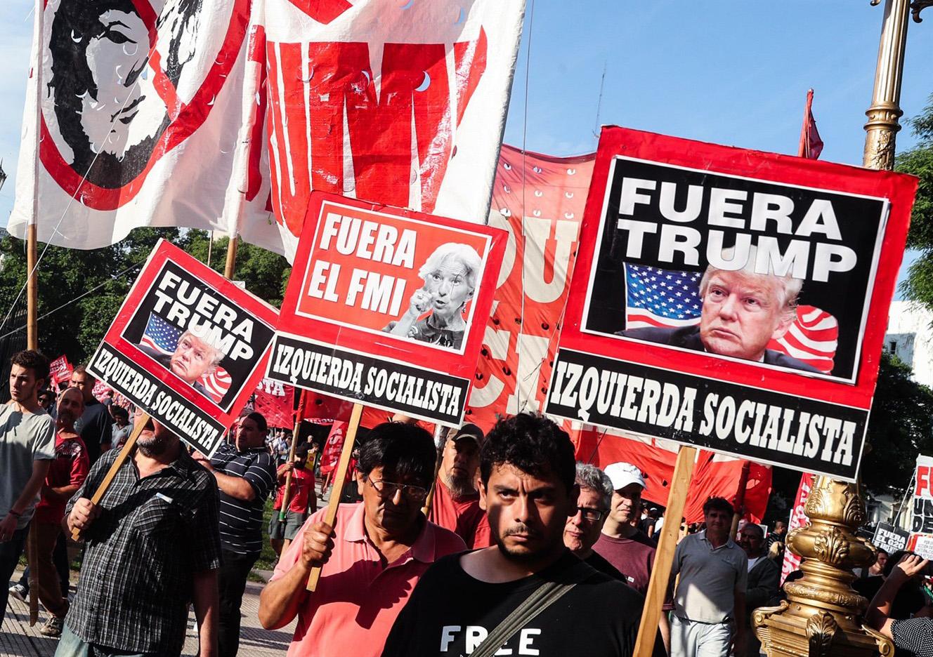 تظاهرات دهها هزار نفری مردم آرژانتین علیه ترامپ همزمان با نشست گروه ۲۰