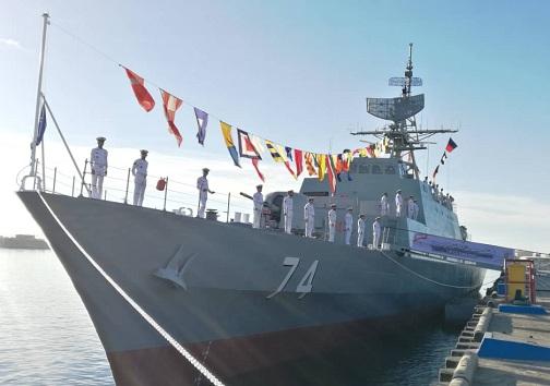 آغاز مراسم الحاق سهند پیشرفته ترین ناوشکن بومی خاورمیانه به ناوگان نیروی دریایی ارتش در بندرعباس
