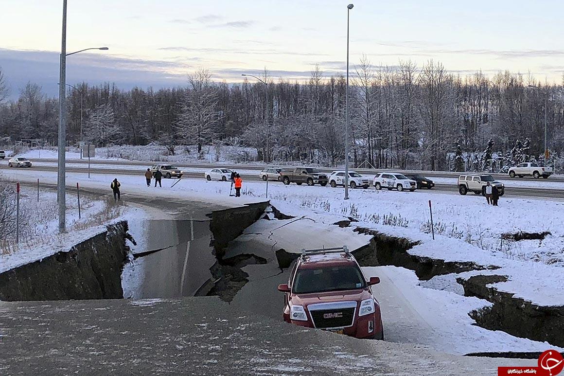 وقوع زلزله ۷ ریشتری در آلاسکا/ ترامپ حالت فوق العاده اعلام کرد+ تصاویر