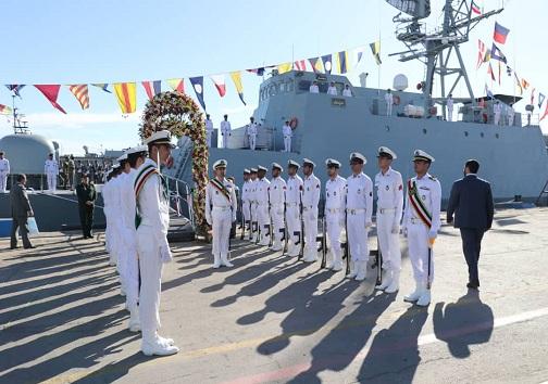 ناوشکن سهند به ناوگان نیروی دریایی ارتش ملحق شد