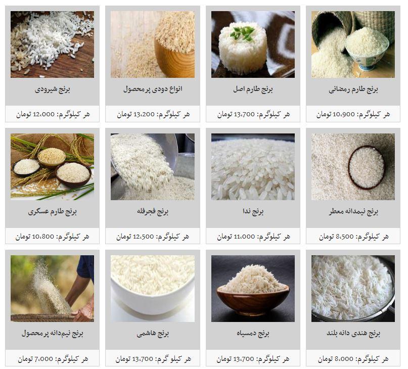 برنج نیمدانه پرمحصول کیلویی چند؟