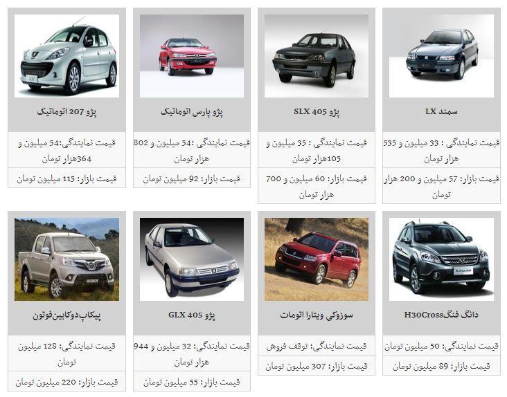 قیمت خودرو ثابت ماند+جدول
