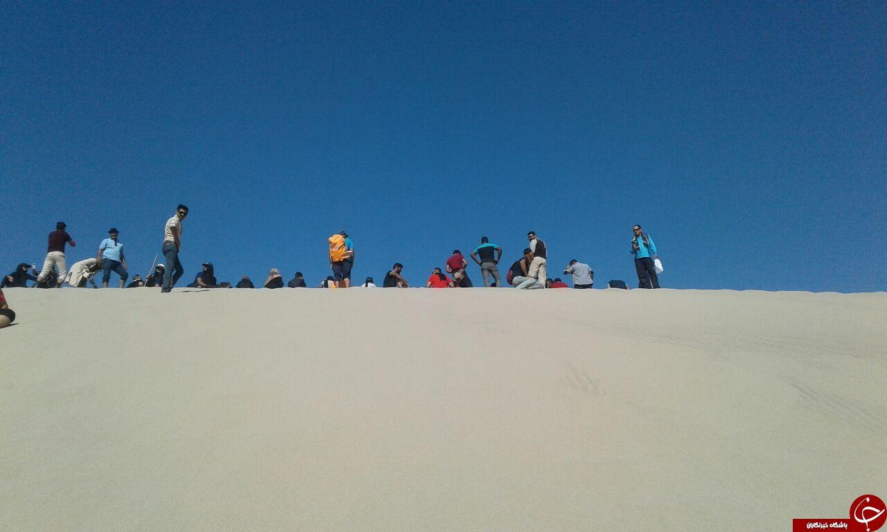 ریگ نوردی ریگانی ها و بمی ها در بلندترین تپه های شنی ایران + تصاویر