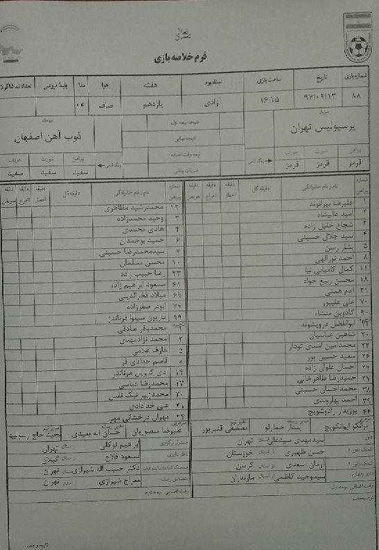 پرسپولیس تهران ۰ - ۰ ذوب آهن اصفهان / گزارش لحظه به لحظه