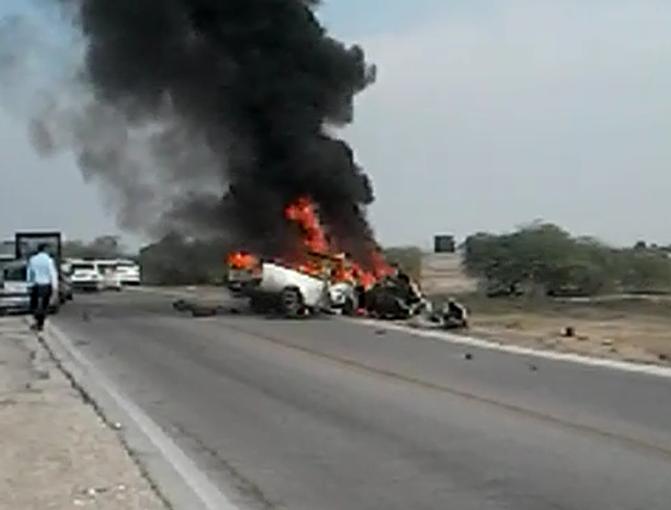 سه کشته و دو مجروح بر اثر برخورد چهار دستگاه خودرو