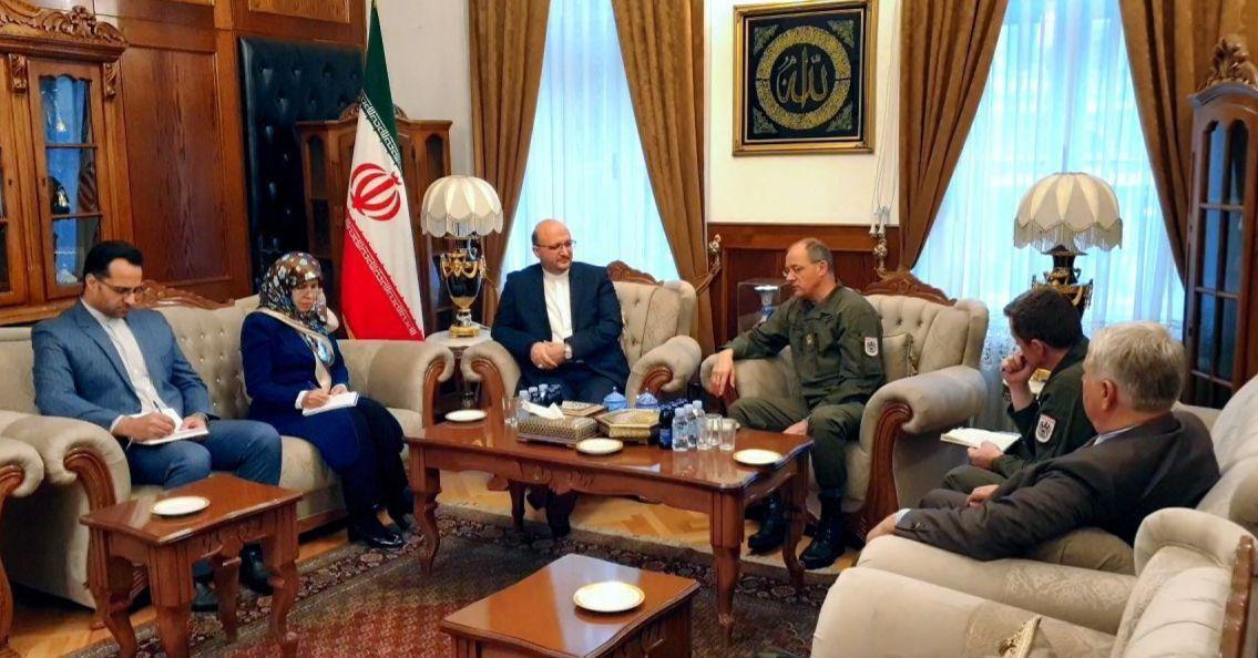 دیدار فرمانده نیروهای نظامی اتحادیه اروپا در بوسنی هرزگوین با  سفیر ایران