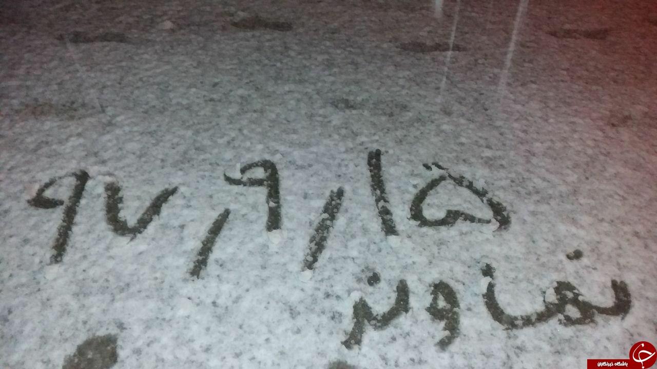 بارش سنگین برف در نهاوند+فیلم