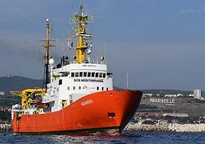 فعالیت کشتی امدادرسان آکواریوس تحت فشار دولتهای مهاجرستیز اروپا متوقف شد
