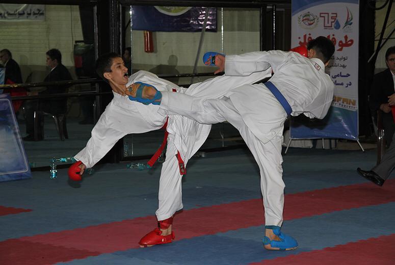 نائب قهرمانی کاراته کا فارس در المپیاد استعدادیابی
