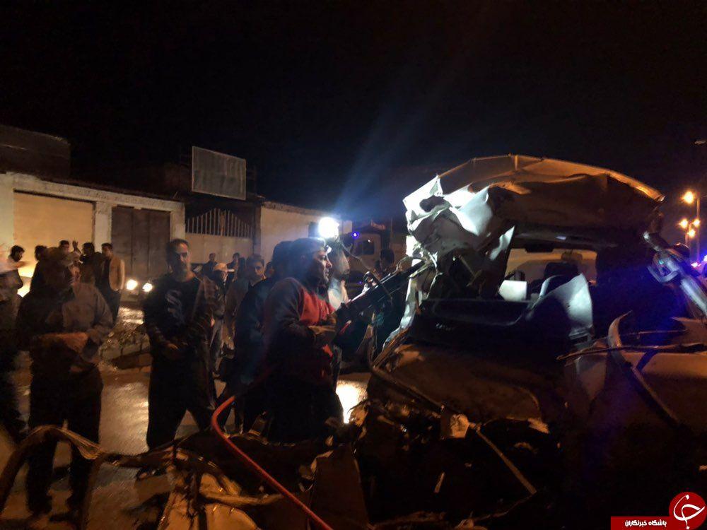 تصادف دلخراش کامیون 10 تن و سواری ون ۲ نفر را به کام مرگ برد+تصاویر