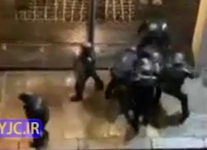 بلایی که پلیس حامی حقوق بشر بر سر معترض فرانسوی آورد +فیلم