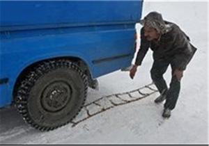 ممنوعیت تردد بدون زنجیر چرخ از گردنه های اسدآباد