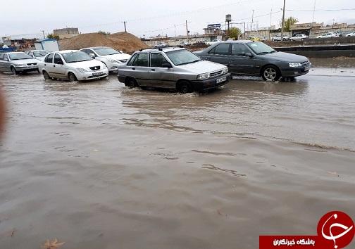 بارش باران و سریال همیشگی آبگرفتگی معابر شهر خرم آباد