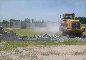 تخریب ساخت و سازهای غیر مجاز در سوادکوه