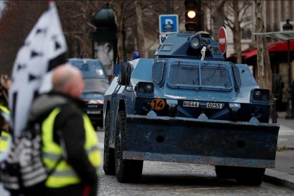 چهارمین شنبه اعتراضات ضددولتی فرانسه/ اجرای تدابیر شدید امنیتی در پاریس