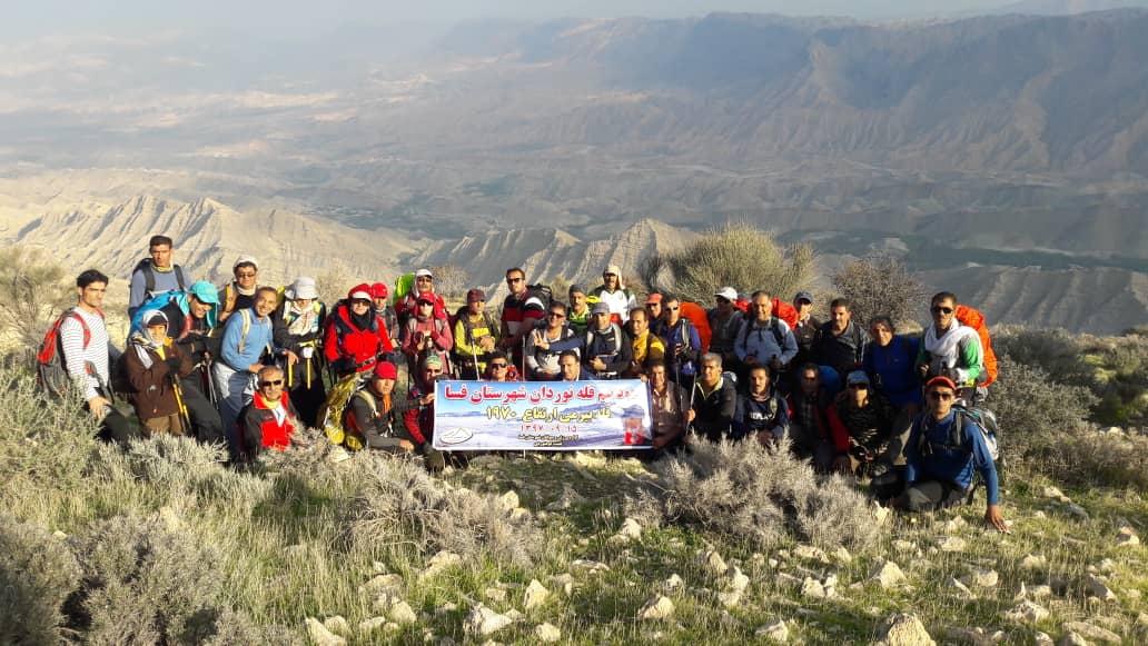صعود کوهنوردان فسا به قله بیرمی بوشهر