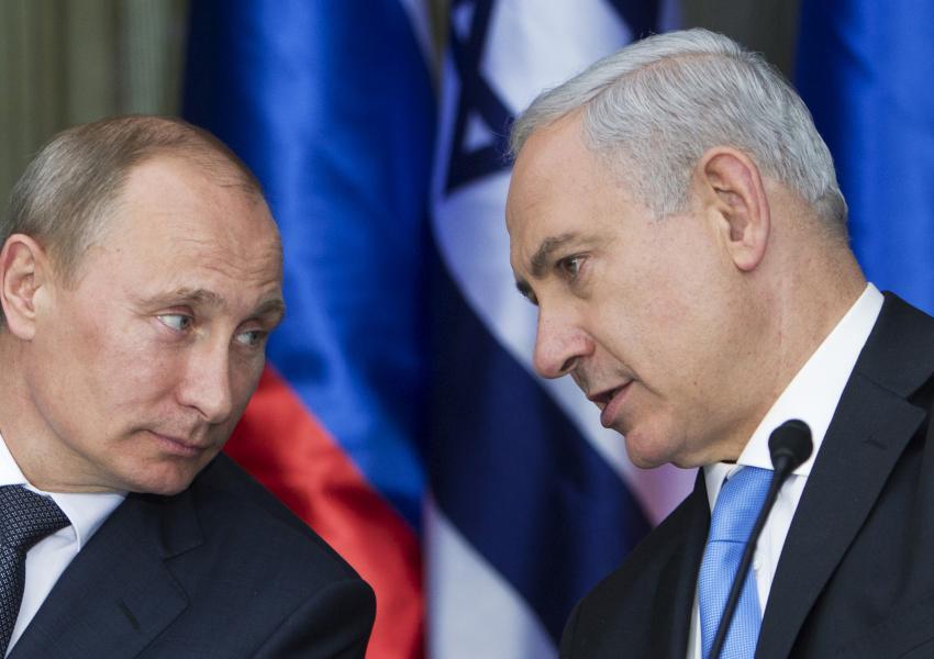نخستین گفتگوی پوتین و نتانیاهو پس از سرنگونی جنگنده روس در سوریه