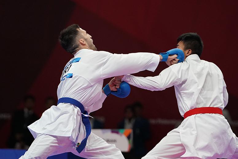 مبارزه ۵ نماینده کاراته ایران برای کسب مدال برنز لیگ جهانی چین
