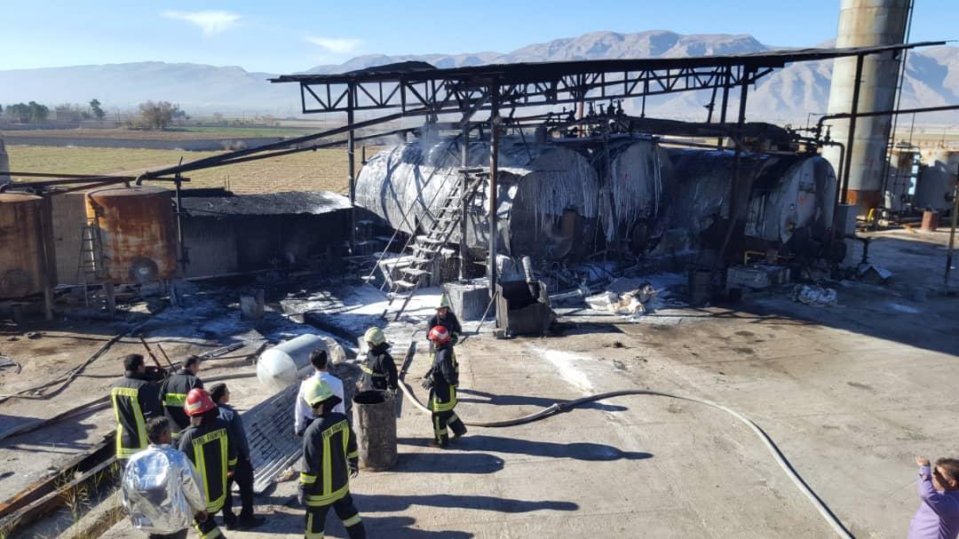 آتش سوزی کارخانه ایزوگام
