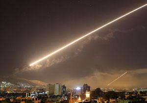 مقابله پدافند هوایی سوریه با حملات هوایی به اطراف فرودگاه دمشق
