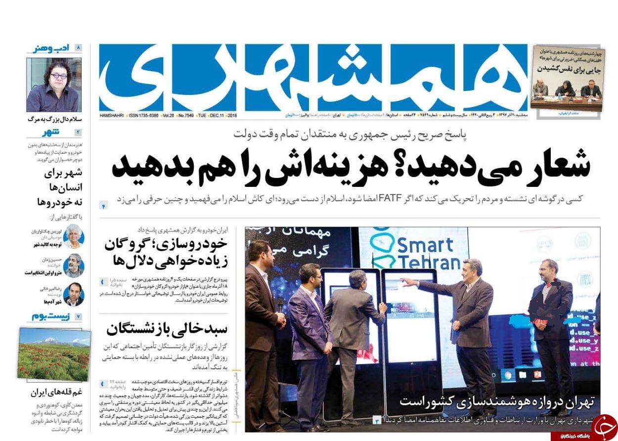 افزایش قیمت خودرو به اسم اصلاح قیمتها!/  تلگرام اولین بار با دستور روحانی فیلتر شد/ وعده ارزیابی 20 درصدی با FATF پس از گرانی 200 درصدی با برجام!