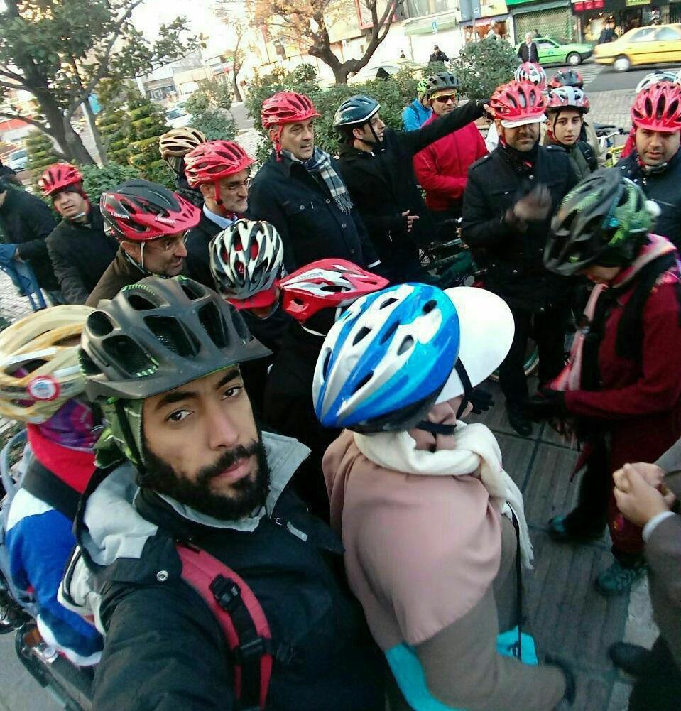 تداوم دوچرخه سواری شهردار تهران در سه شنبه های بدون خودرو با همراهی شهروندان