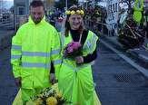 باشگاه خبرنگاران - ازدواج دو جلیقهزرد وسط اعتراضات خیابانی فرانسه! +تصاویر