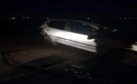باشگاه خبرنگاران -واژگونی یک دستگاه خودرو در خرمشهر