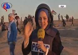لحظه مجروحیت خبرنگار العالم حین پخش زنده + فیلم