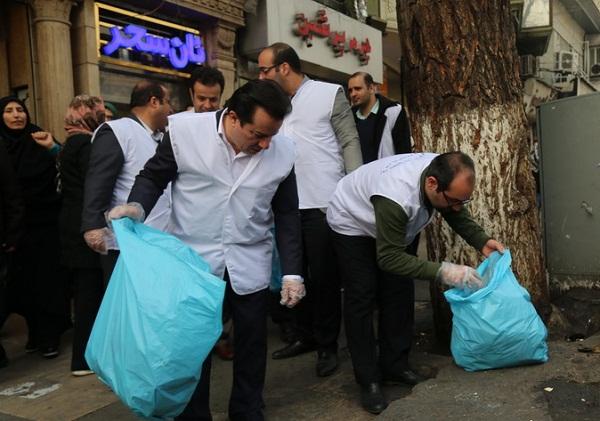 خیابان ولیعصر، محروم از وجود سطل زباله! / وقتی کمپینها دردی از آلودگی شهر دوا نمیکنند