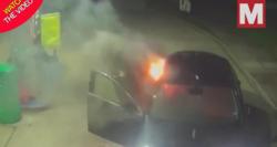 اقدام وحشتناک دو مسافر مست در پمپ بنزین! + فیلم