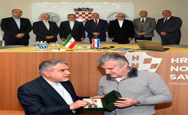 باشگاه خبرنگاران -دیدار صالحی امیری با رئیس کمیته ملی المپیک کرواسی
