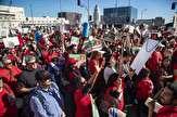 باشگاه خبرنگاران -تظاهرات هزاران معلم در لس آنجلس