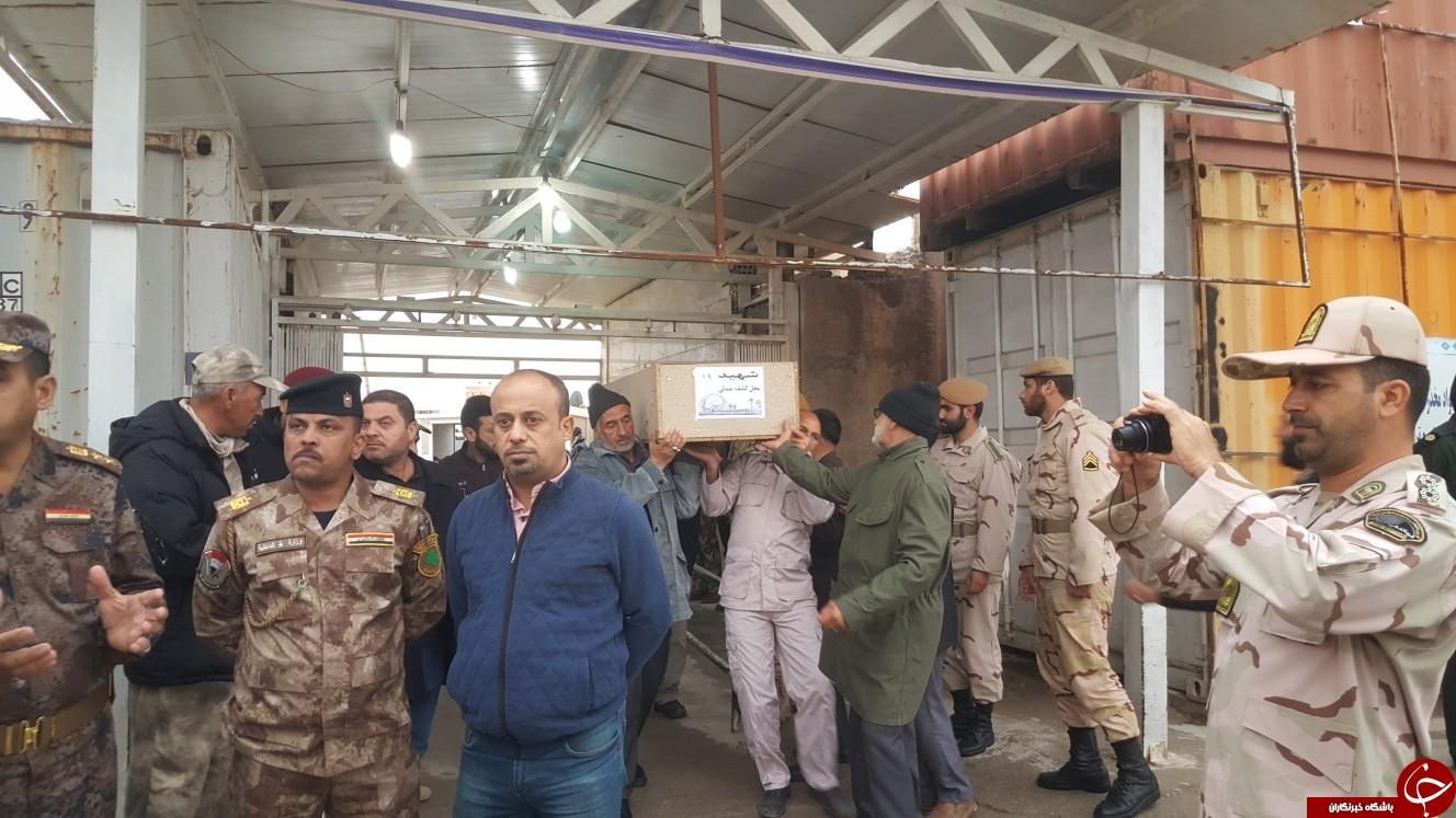 پیکرهای 46 شهید دفاع مقدس از مرز مهران وارد خاک کشور شدند