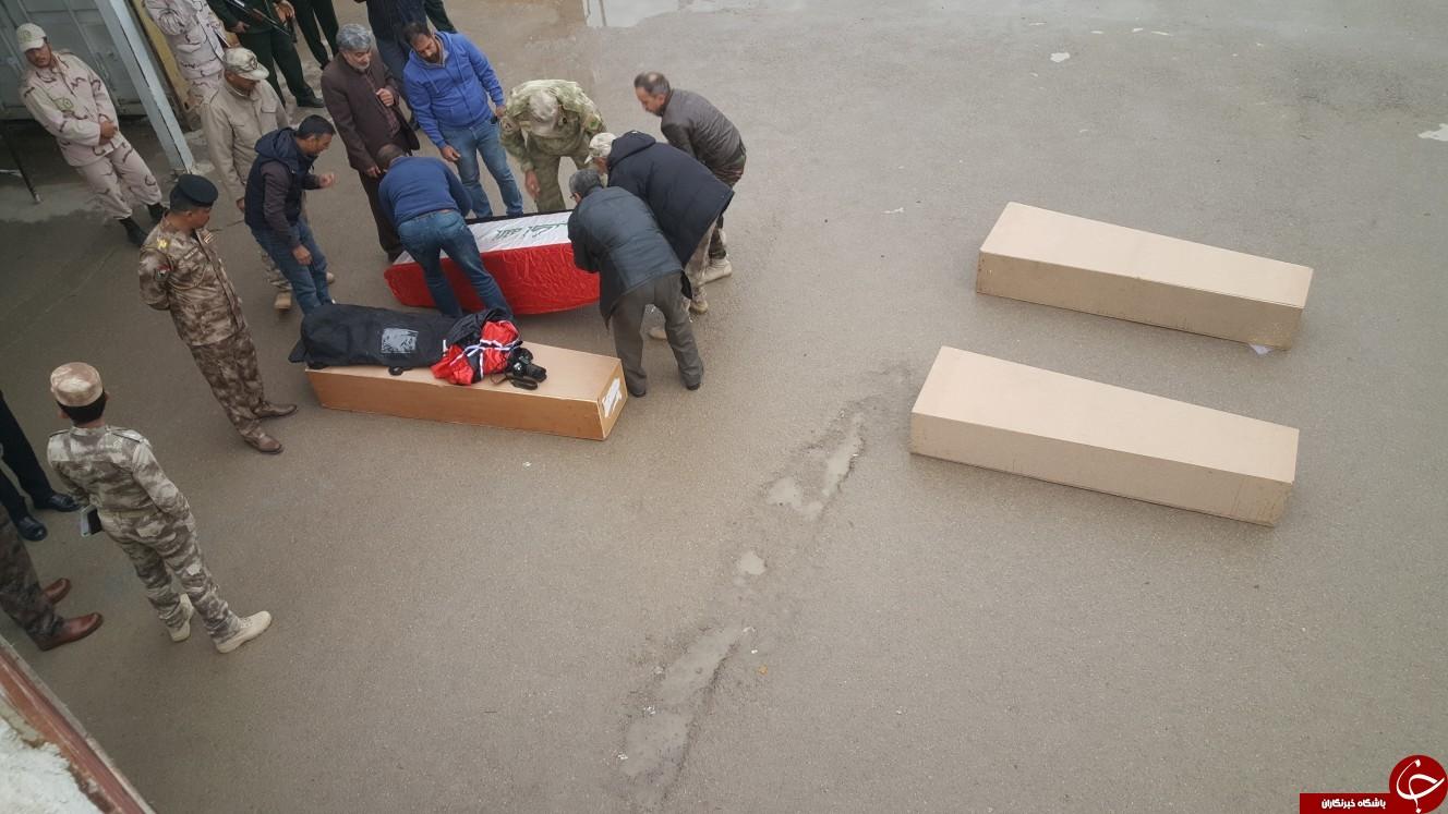 پیکرهای 46 شهید دفاع مقدس از مرز مهران وارد خاک کشور شدند+تصاویر