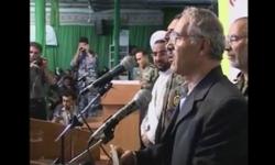 لحظه فوت پدر شهیدان «فناخسرو» حین سخنرانی +فیلم