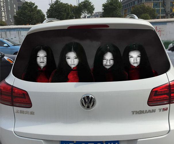 ابتکار ترسناک چینی ها با رانندگانی که با نور بالا حرکت می کنند+تصاویر