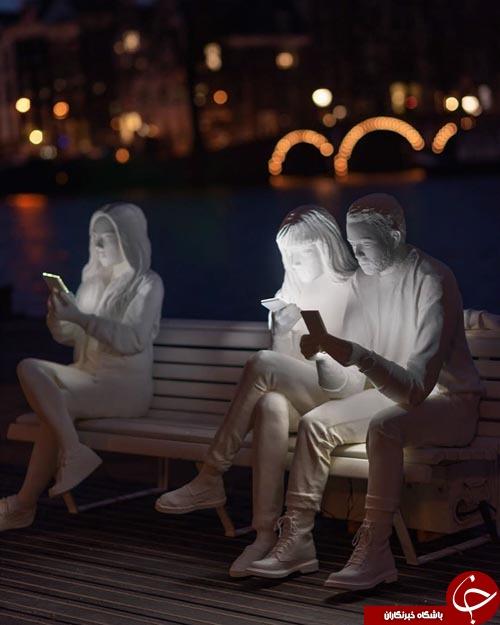 مجسمه هایی که گویای زندگی تلخ و مدرن امروزه هستند+تصاویر