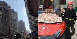 خودنمایی عجیب میلیونر هنگکنگی در خیابان! +فیلم