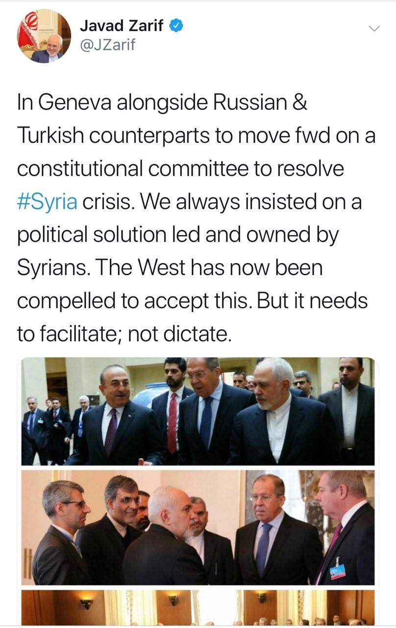 کشورهای غربی راهحلهای سیاسی درباره سوریه را تسهیل کنند