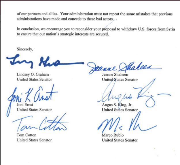 نامه سناتورهای آمریکایی به ترامپ: در تصمیمت بازنگری کن