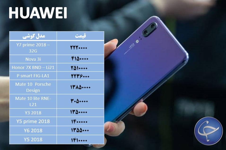 آخرین قیمت تلفن همراه در بازار (بروزرسانی 1 دی) +جدول