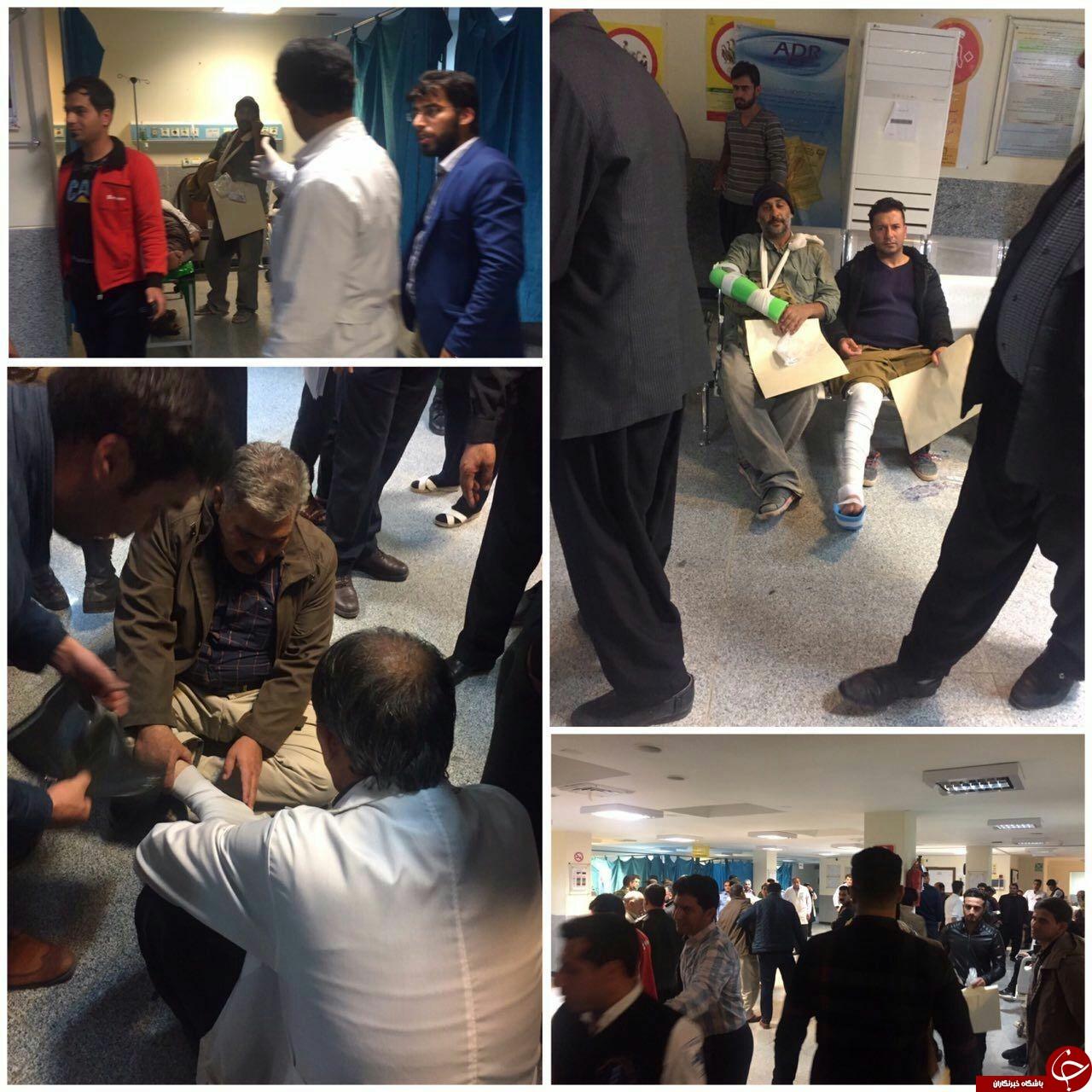 زلزله 6.4 ریشتری کرمانشاه را لرزاند/ بنزین برای سوخت گیری تامین است/ مصدومیت بیش از 400 نفر + فیلم و تصاویر