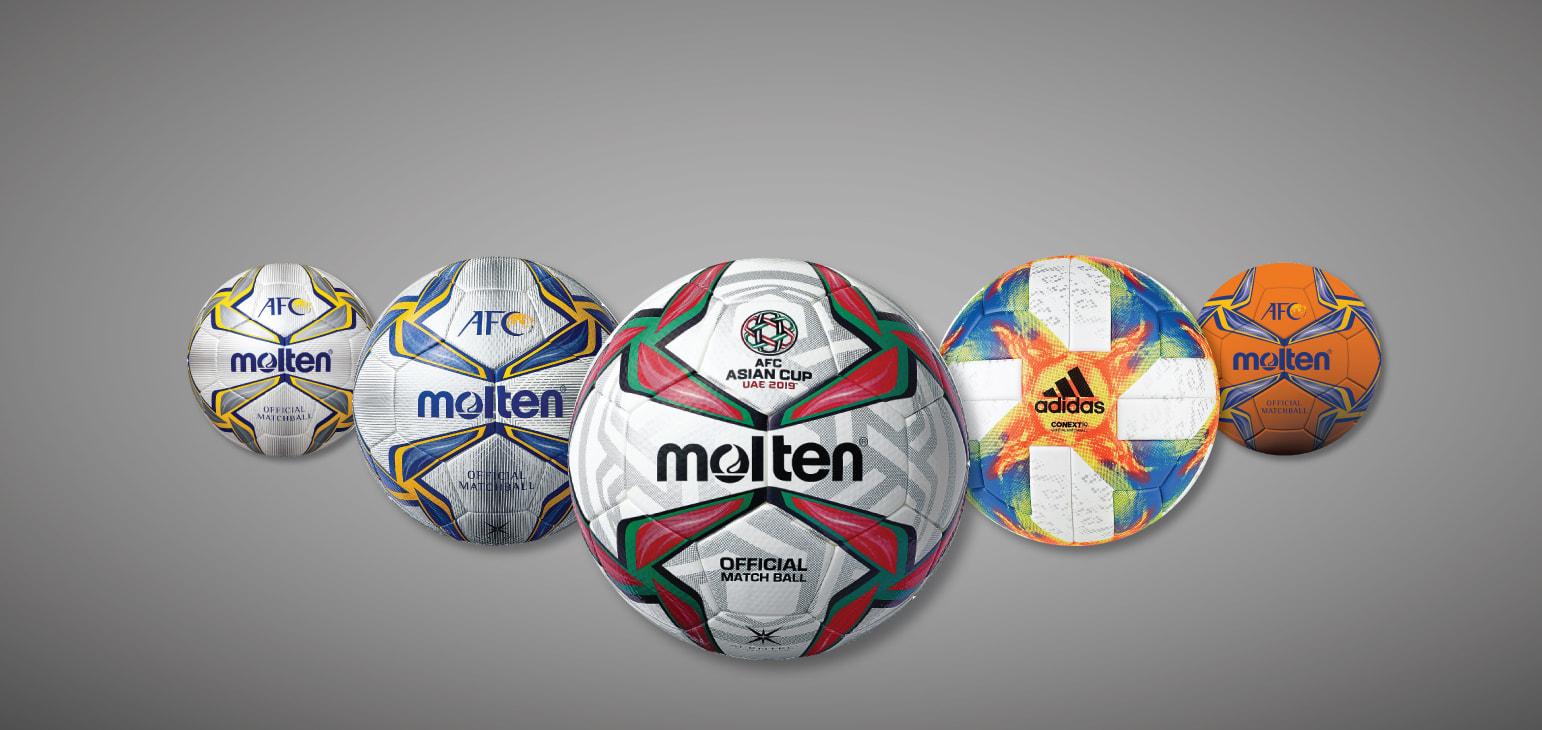 رو نمایی از توپ های رسمی مسابقات لیگ قهرمانان و فوتسال قهرمانی آسیا