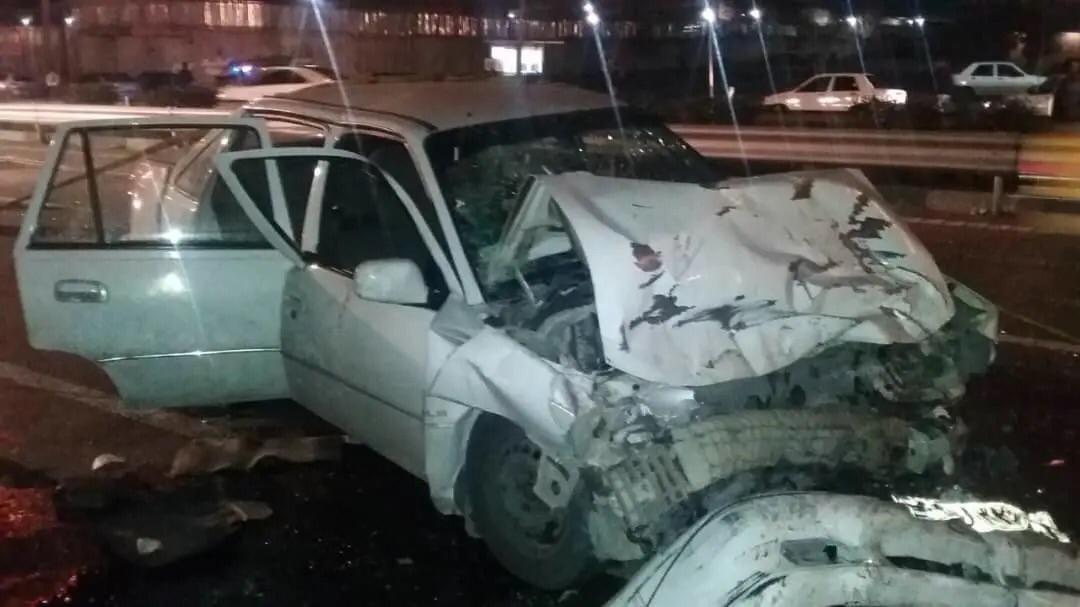 فوت ۲ تن در حادثه تصادف در اتوبان یاسینی+ عکس