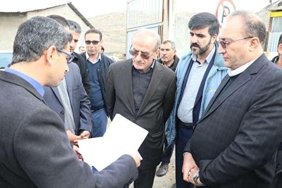 باشگاه خبرنگاران - بازدید رییس سازمان راهداری و حمل و نقل جادهای از محورهای مواصلاتی شمال آذربایجان غربی و پایانه مرزی بازرگان